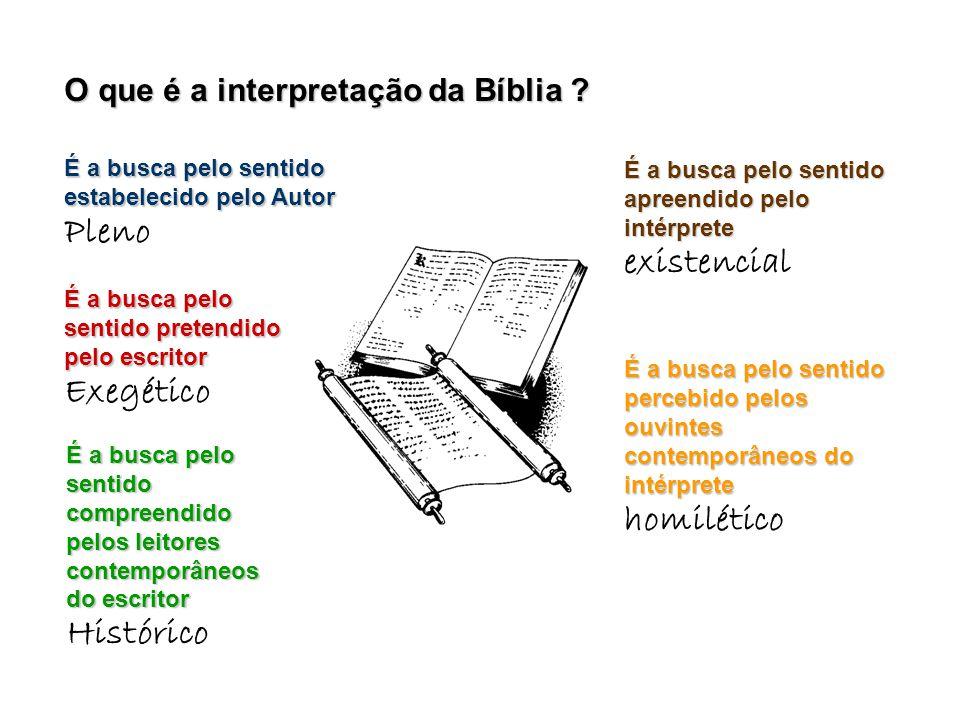 O que é a interpretação da Bíblia .