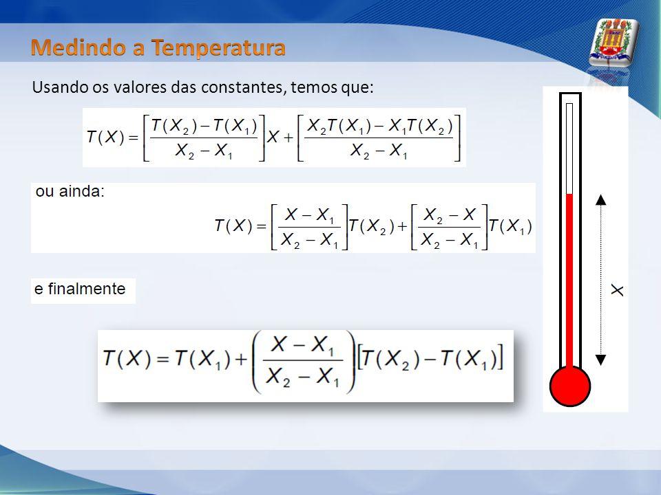 Usando os valores das constantes, temos que: