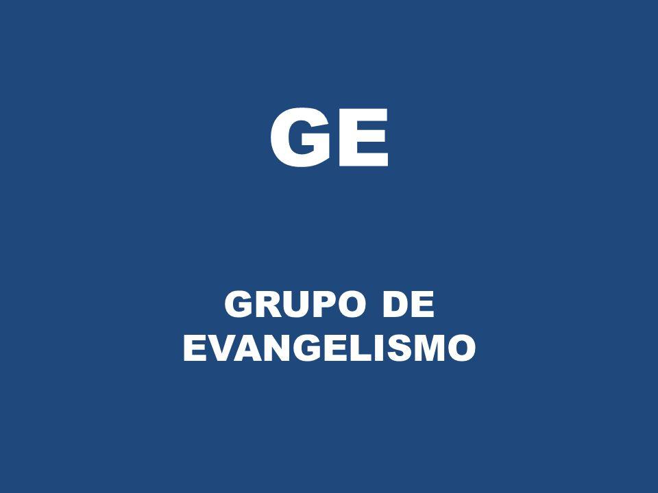 Um GE (Grupo de Evangelismo) é uma reunião periódica, programada, pré-definida, objetivando levar pessoas a Cristo de maneira informal e espontânea; O GE pode ter duas (02) pessoas ou mais, sem um limite, contanto que haja um controle nas reuniões.