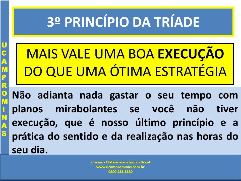 Cursos a Distância em todo o Brasil www.institutoprominas.com.br 0800 283 8380 UCAMPROMINASUCAMPROMINAS UCAMPROMINASUCAMPROMINAS Cursos a Distância em todo o Brasil www.ucamprominas.com.br 0800 283 8380 Cursos a Distância em todo o Brasil www.institutoprominas.com.br 0800 283 8380 Cursos a Distância em todo o Brasil www.ucamprominas.com.br 0800 283 8380 Não adianta nada gastar o seu tempo com planos mirabolantes se você não tiver execução, que é nosso último princípio e a prática do sentido e da realização nas horas do seu dia.