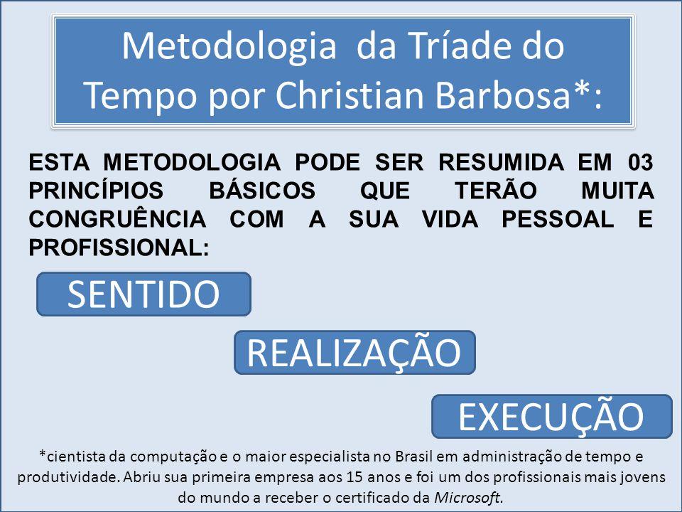 Cursos a Distância em todo o Brasil www.institutoprominas.com.br 0800 283 8380 UCAMPROMINASUCAMPROMINAS UCAMPROMINASUCAMPROMINAS Cursos a Distância em todo o Brasil www.ucamprominas.com.br 0800 283 8380 Cursos a Distância em todo o Brasil www.institutoprominas.com.br 0800 283 8380 Cursos a Distância em todo o Brasil www.ucamprominas.com.br 0800 283 8380 Metodologia da Tríade do Tempo por Christian Barbosa*: *cientista da computação e o maior especialista no Brasil em administração de tempo e produtividade.