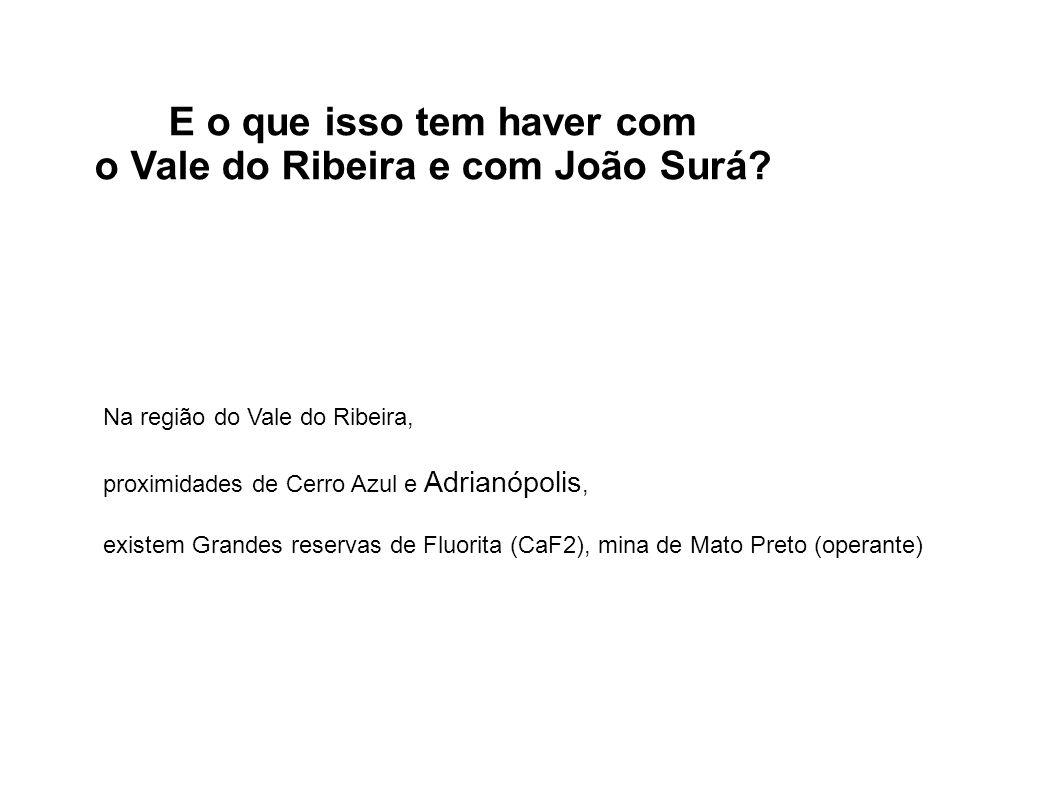 E o que isso tem haver com o Vale do Ribeira e com João Surá? Na região do Vale do Ribeira, proximidades de Cerro Azul e Adrianópolis, existem Grandes