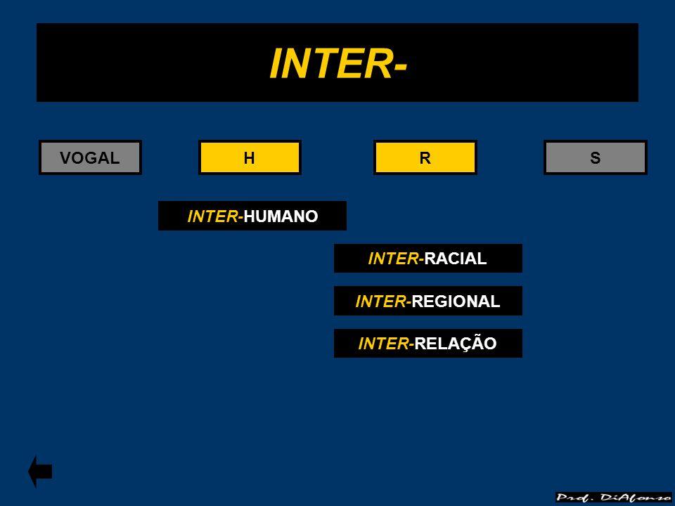 RS INTER- HHVOGALR INTER-HUMANO INTER-RACIAL INTER-REGIONAL INTER-RELAÇÃO