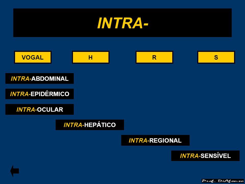VOGALRS INTRA- HHVOGALRS INTRA-ABDOMINAL INTRA-EPIDÉRMICO INTRA-OCULAR INTRA-HEPÁTICO INTRA-REGIONAL INTRA-SENSÍVEL