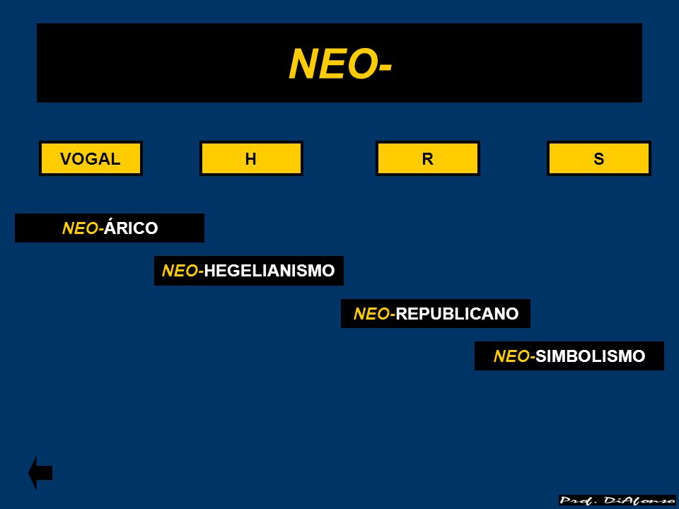 VOGALRS NEO- HHVOGALRS NEO-ÁRICO NEO-HEGELIANISMO NEO-REPUBLICANO NEO-SIMBOLISMO