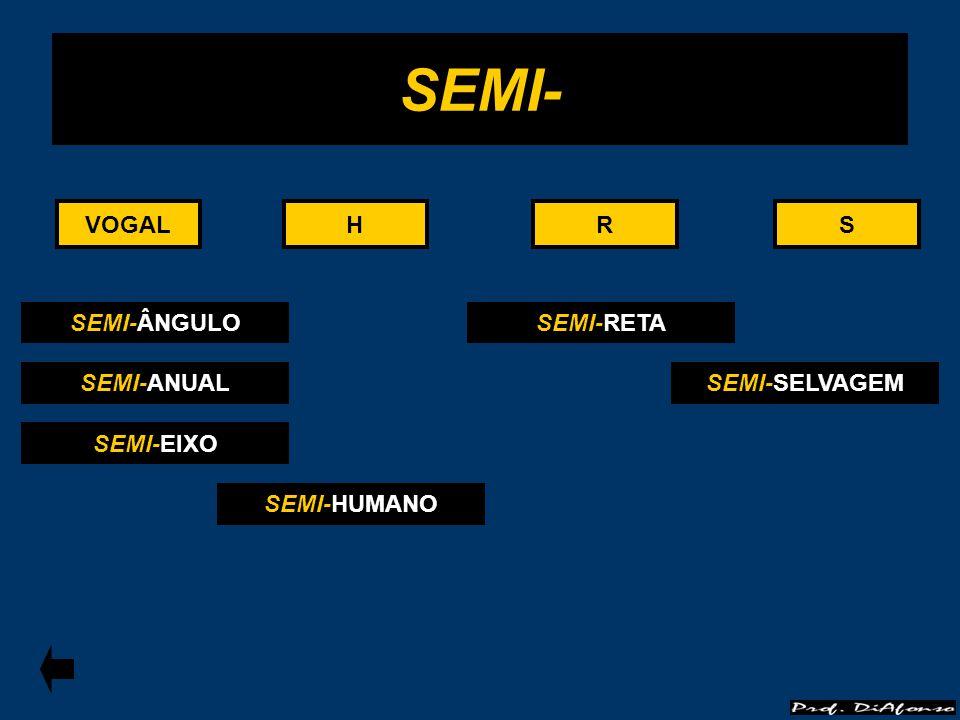VOGALRS SEMI- HHVOGALRS SEMI-ÂNGULO SEMI-ANUAL SEMI-EIXO SEMI-HUMANO SEMI-RETA SEMI-SELVAGEM