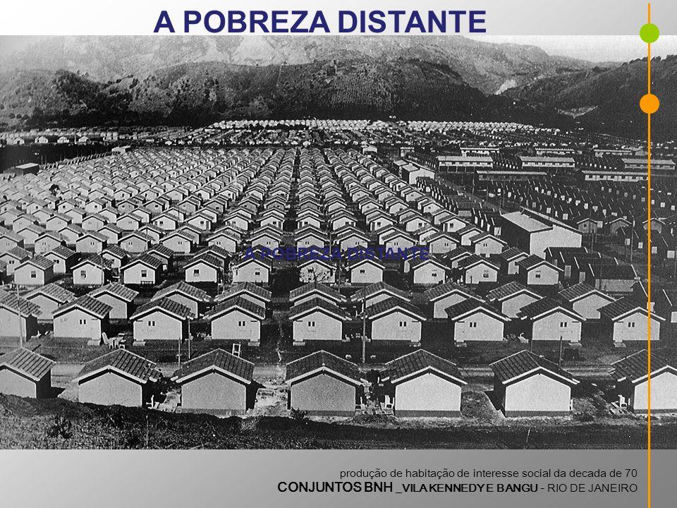 produção de habitação de interesse social da decada de 70 CONJUNTOS BNH _VILA KENNEDY E BANGU - RIO DE JANEIRO A POBREZA DISTANTE