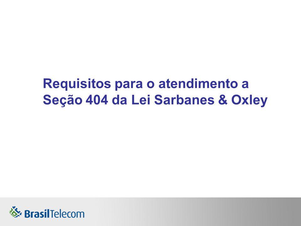 Requisitos para o atendimento a Seção 404 da Lei Sarbanes & Oxley