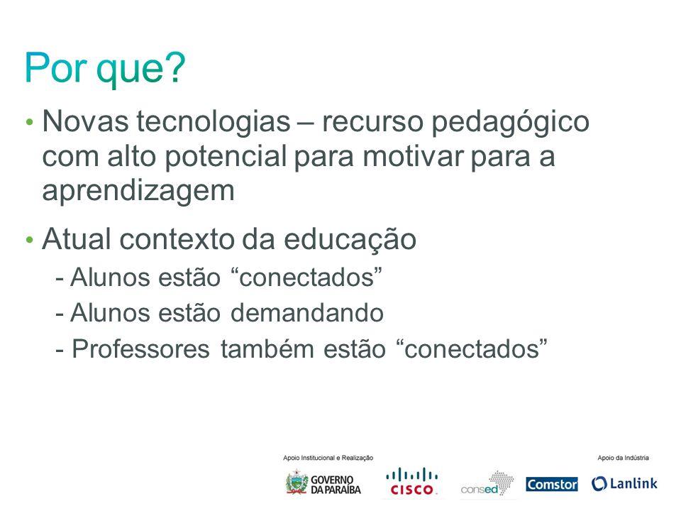 Novas tecnologias – recurso pedagógico com alto potencial para motivar para a aprendizagem Atual contexto da educação - Alunos estão conectados - Alun