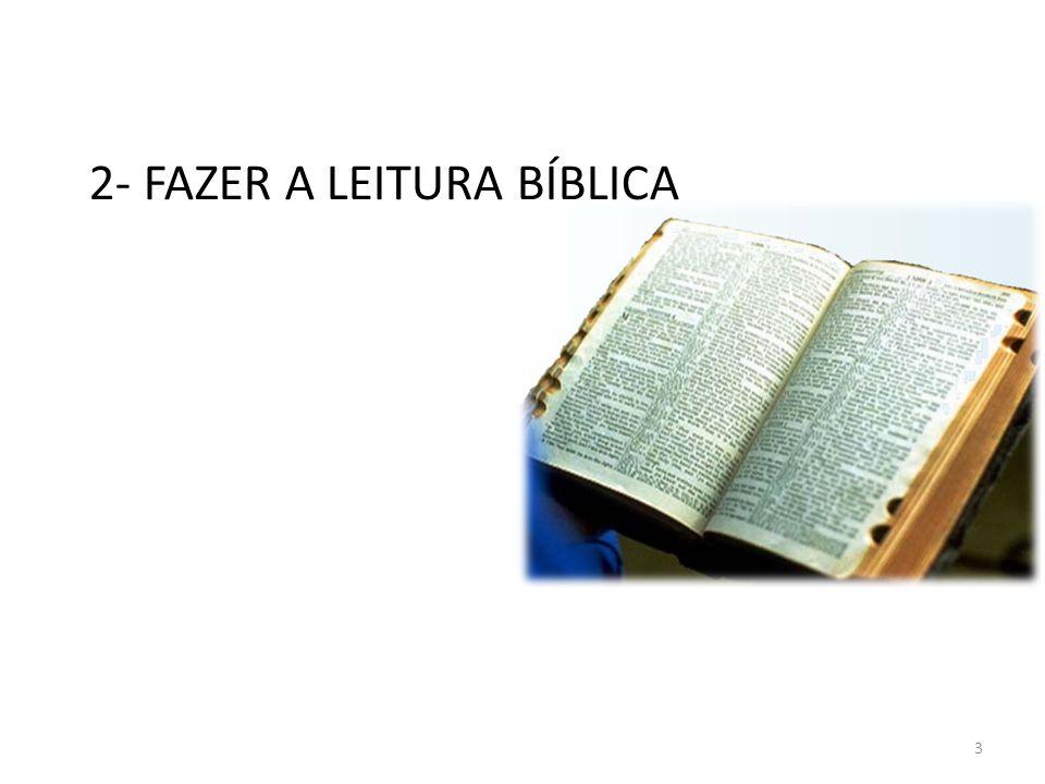 2- FAZER A LEITURA BÍBLICA 3