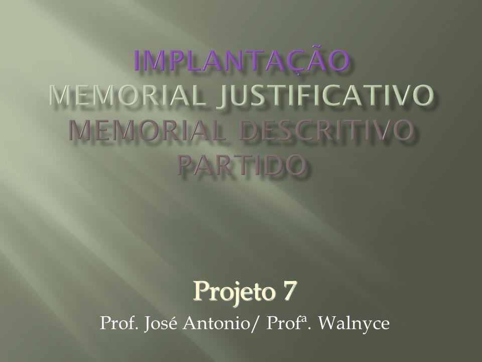 Projeto 7 Prof. José Antonio/ Profª. Walnyce