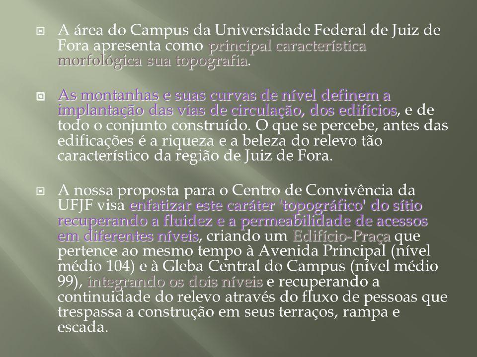 principal característica morfológica sua topografia A área do Campus da Universidade Federal de Juiz de Fora apresenta como principal característica m