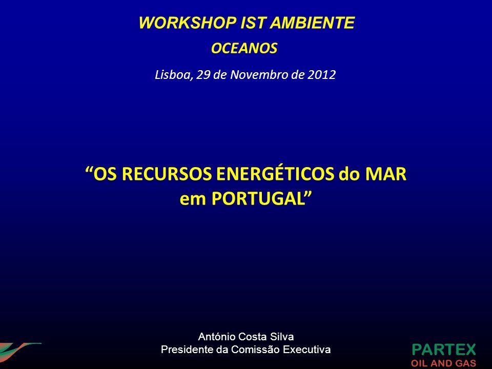António Costa Silva Presidente da Comissão Executiva OS RECURSOS ENERGÉTICOS do MAR em PORTUGAL OCEANOS Lisboa, 29 de Novembro de 2012 WORKSHOP IST AM