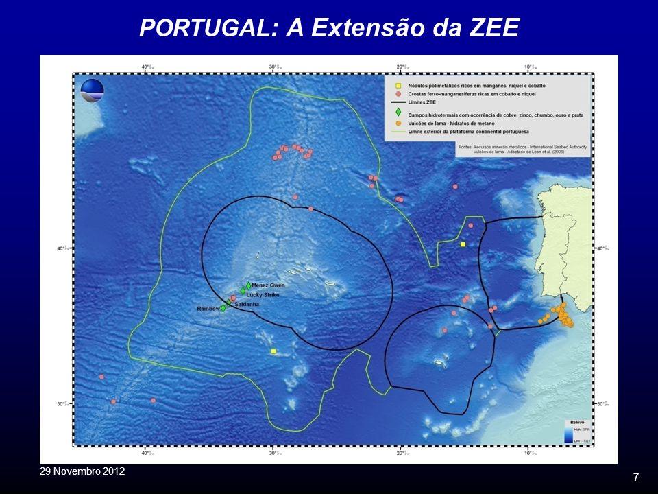 7 PORTUGAL : A Extensão da ZEE 29 Novembro 2012