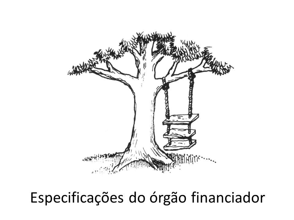Especificações do órgão financiador