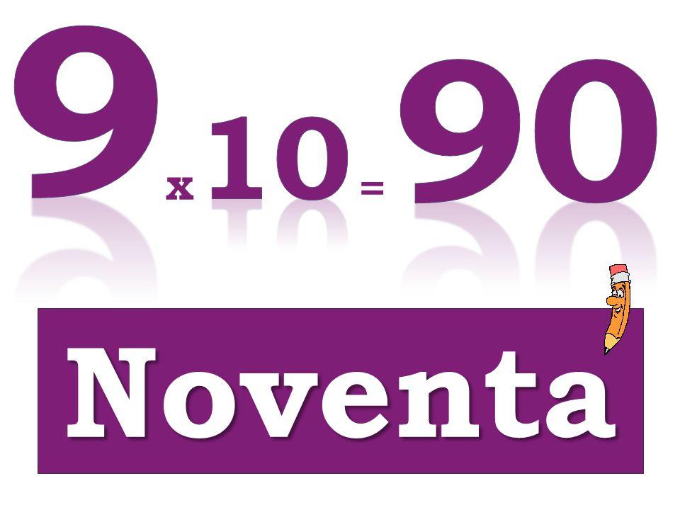 x = Noventa