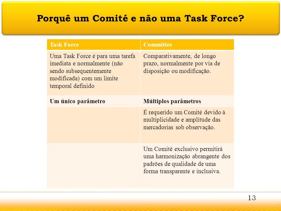 Jodhpur Porquê um Comité e não uma Task Force? Task ForceCommittee Uma Task Force é para uma tarefa imediata e normalmente (não sendo subsequentemente