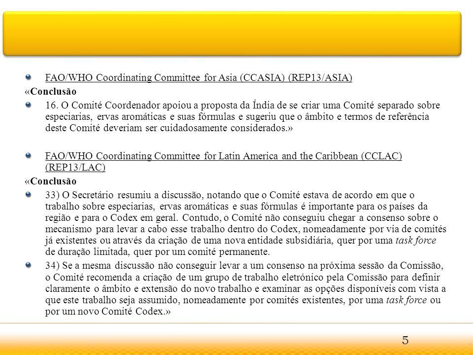 FAO/WHO Coordinating Committee for Near East (CCNEA) (REP13/NEA) «25.