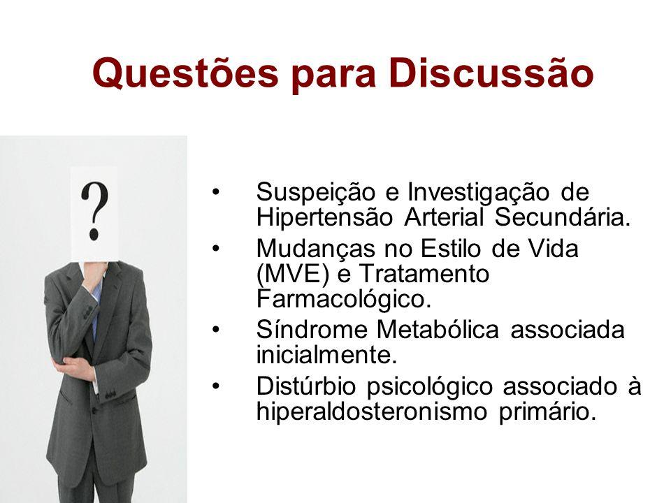 Questões para Discussão Diagnóstico de corredor? Classificação da Hipertensão, Fatores de Risco e LOA. Urgência X Emergência Hipertensiva. Conceito e