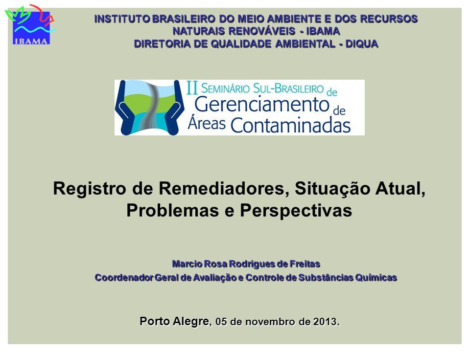 INSTITUTO BRASILEIRO DO MEIO AMBIENTE E DOS RECURSOS NATURAIS RENOVÁVEIS - IBAMA DIRETORIA DE QUALIDADE AMBIENTAL - DIQUA Registro de Remediadores, Si