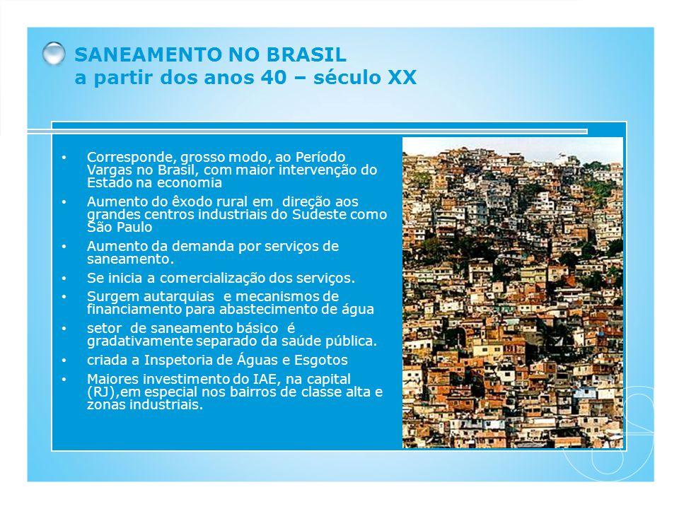 Corresponde, grosso modo, ao Período Vargas no Brasil, com maior intervenção do Estado na economia Aumento do êxodo rural em direção aos grandes centr
