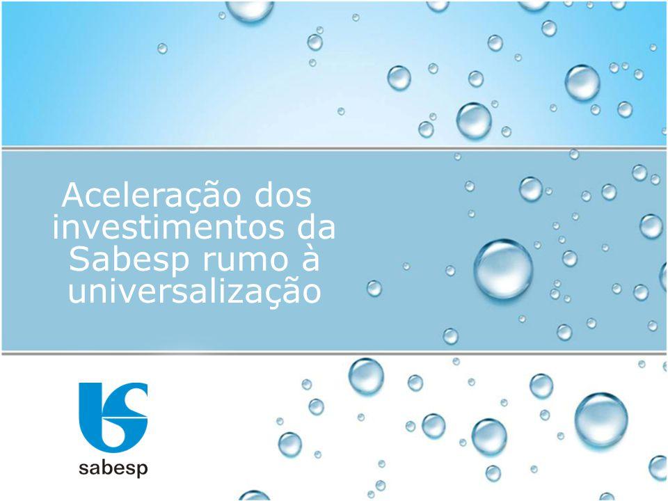 Aceleração dos investimentos da Sabesp rumo à universalização