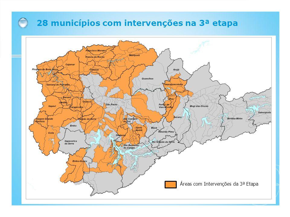Áreas com Intervenções da 3ª Etapa 28 municípios com intervenções na 3ª etapa