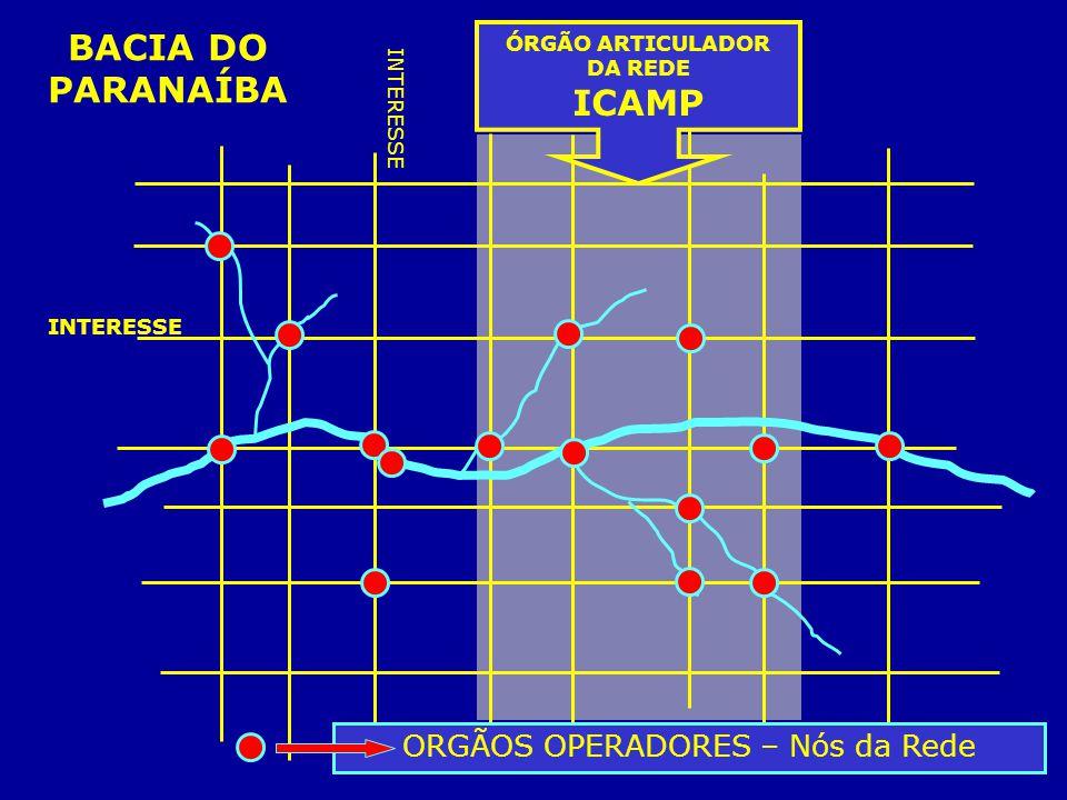 ORGÃOS OPERADORES – Nós da Rede INTERESSE ÓRGÃO ARTICULADOR DA REDE ICAMP BACIA DO PARANAÍBA