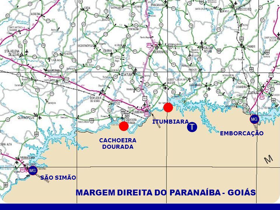 MARGEM DIREITA DO PARANAÍBA - GOIÁS MG SÃO SIMÃO CACHOEIRA DOURADA ITUMBIARA EMBORCAÇÃO MG T