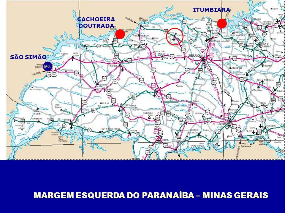 Principais barragens da Bacia do Paranaíba em MG