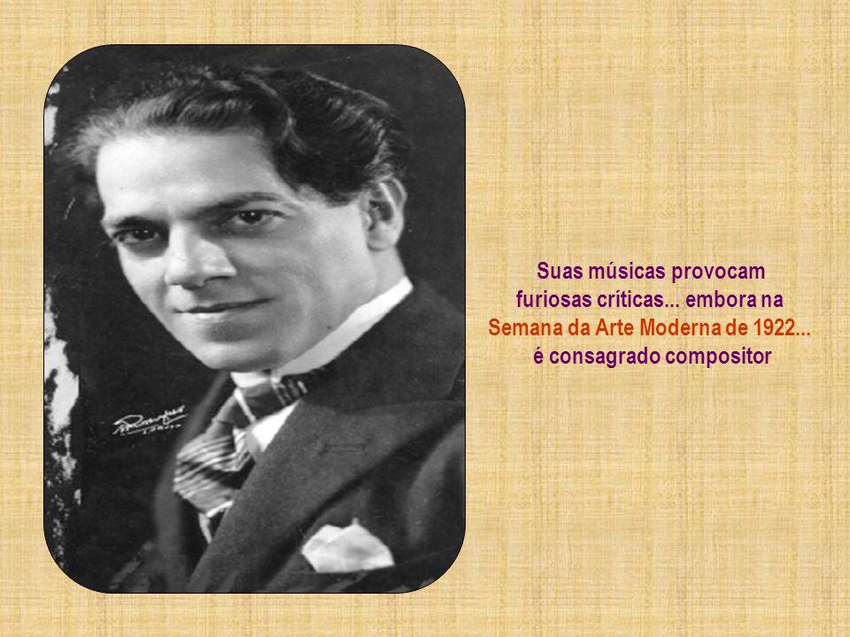 O ano de 1915 torna-se o marco da apresentação oficial de Heitor Villa-Lobos... É realizado o 1º concerto no Rio de Janeiro dando início ao Modernismo