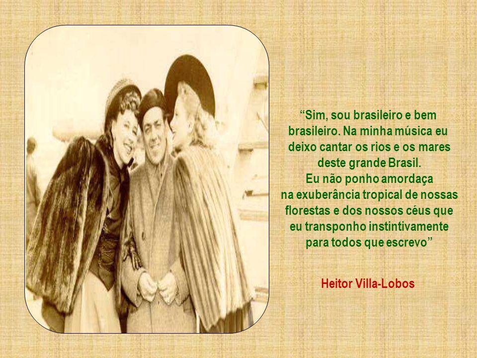 Em 1945... Villa-Lobos torna-se Fundador e Presidente da Academia Brasileira de Música. Dois anos antes de morrer foi convidado para compor a trilha s