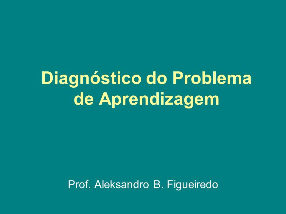 Diagnóstico do Problema de Aprendizagem Prof. Aleksandro B. Figueiredo