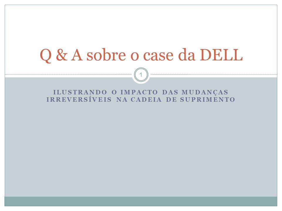ILUSTRANDO O IMPACTO DAS MUDANÇAS IRREVERSÍVEIS NA CADEIA DE SUPRIMENTO Q & A sobre o case da DELL 1