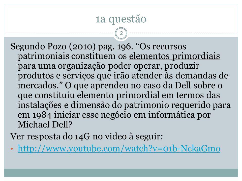 1a questão Segundo Pozo (2010) pag. 196.
