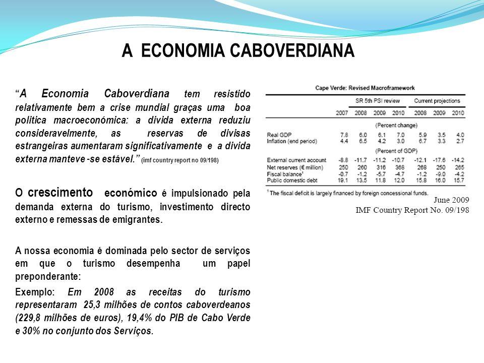 A Economia Caboverdiana tem resistido relativamente bem a crise mundial graças uma boa politica macroeconómica: a divida externa reduziu consideravelmente, as reservas de divisas estrangeiras aumentaram significativamente e a divida externa manteve -se estável.