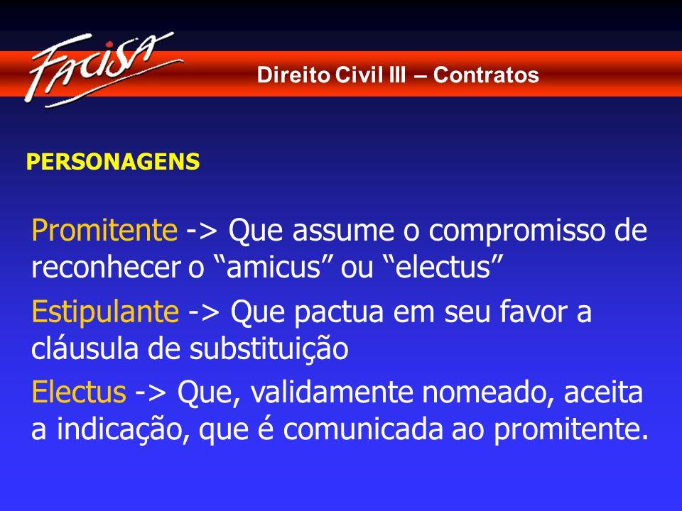 Direito Civil III – Contratos NATUREZA JURÍDICA - TEORIAS ESTIPULAÇÃO EM FAVOR DE TERCEIRO Semelhança -> Exceção ao princípio da relatividade dos efeitos dos contratos.