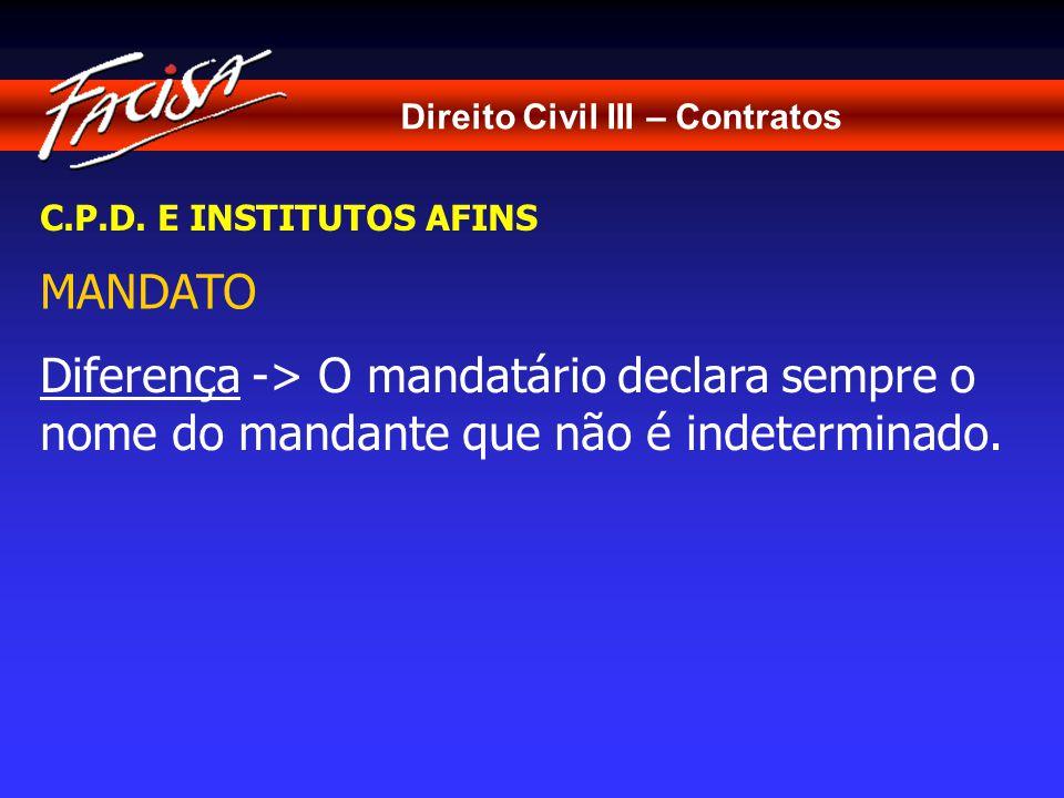 Direito Civil III – Contratos C.P.D.