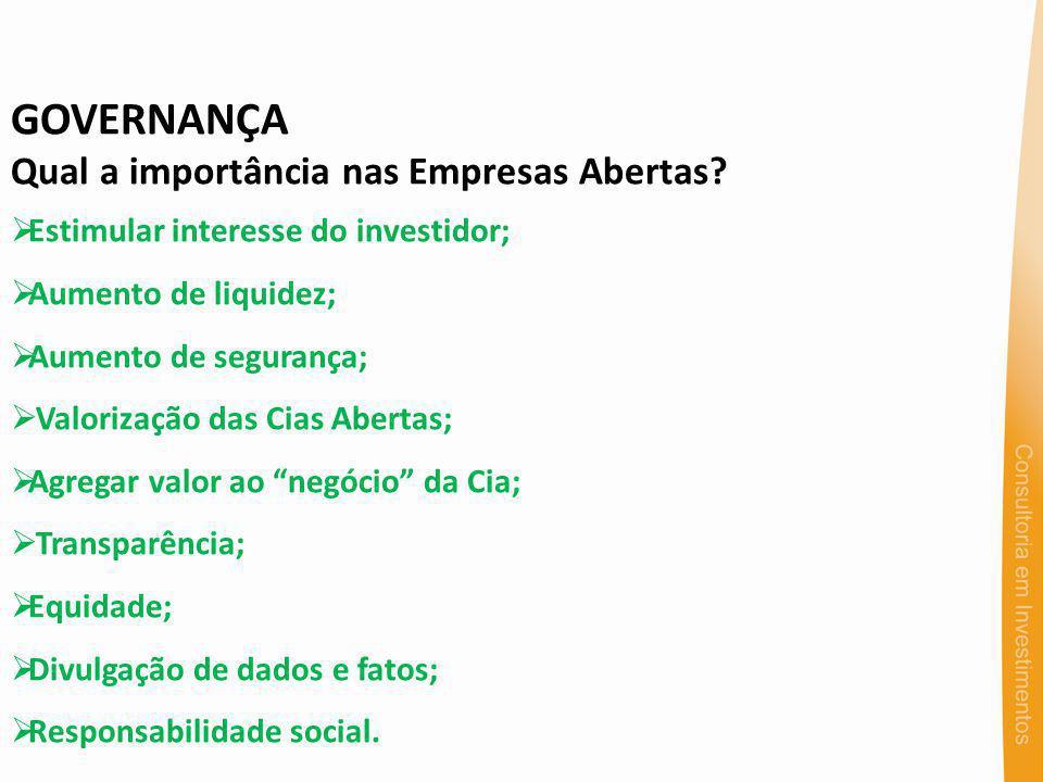 GOVERNANÇA Qual a importância nas Empresas Abertas.