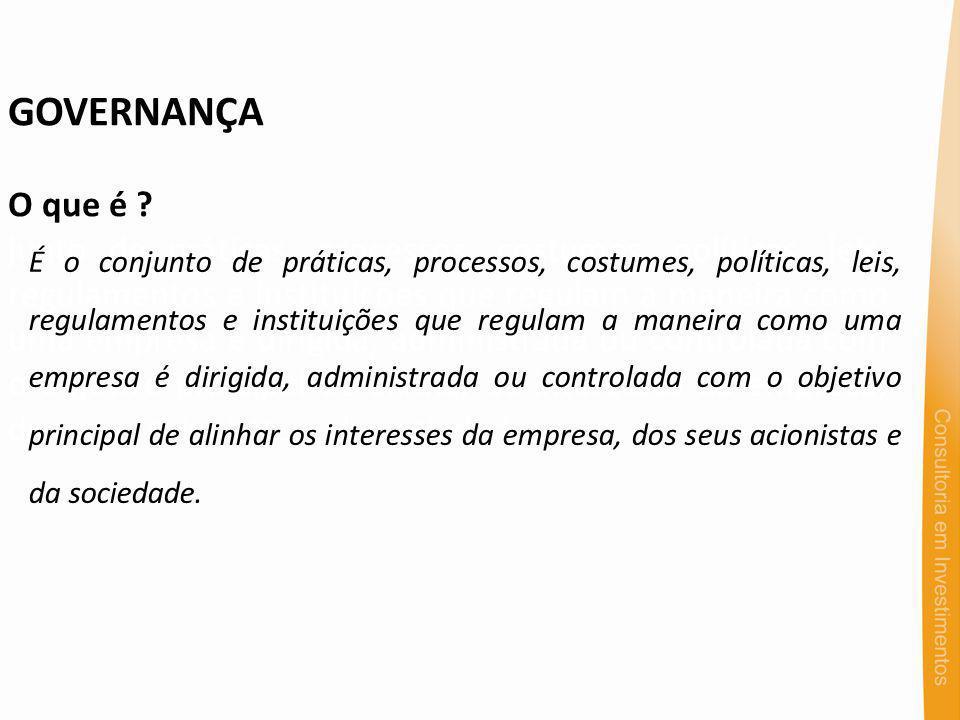 GOVERNANÇA Qual a importância .