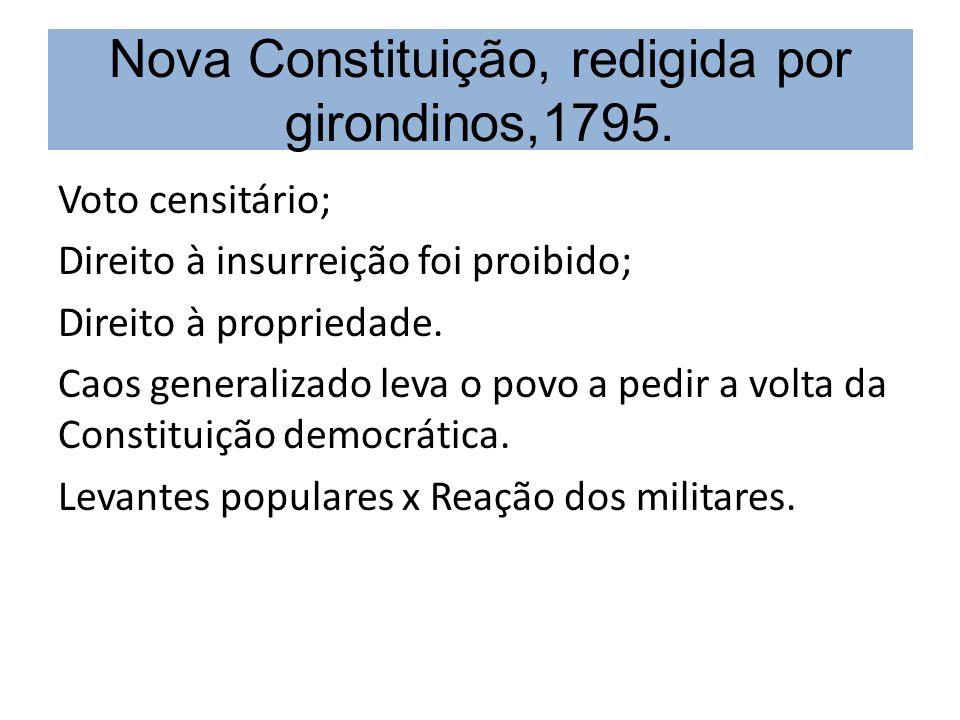 Nova Constituição, redigida por girondinos,1795.