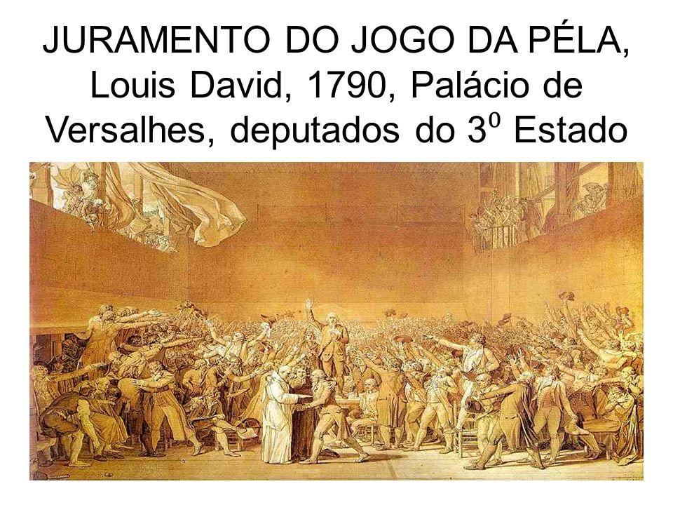 JURAMENTO DO JOGO DA PÉLA, Louis David, 1790, Palácio de Versalhes, deputados do 3 Estado