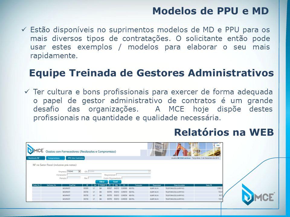 Modelos de PPU e MD Estão disponíveis no suprimentos modelos de MD e PPU para os mais diversos tipos de contratações. O solicitante então pode usar es