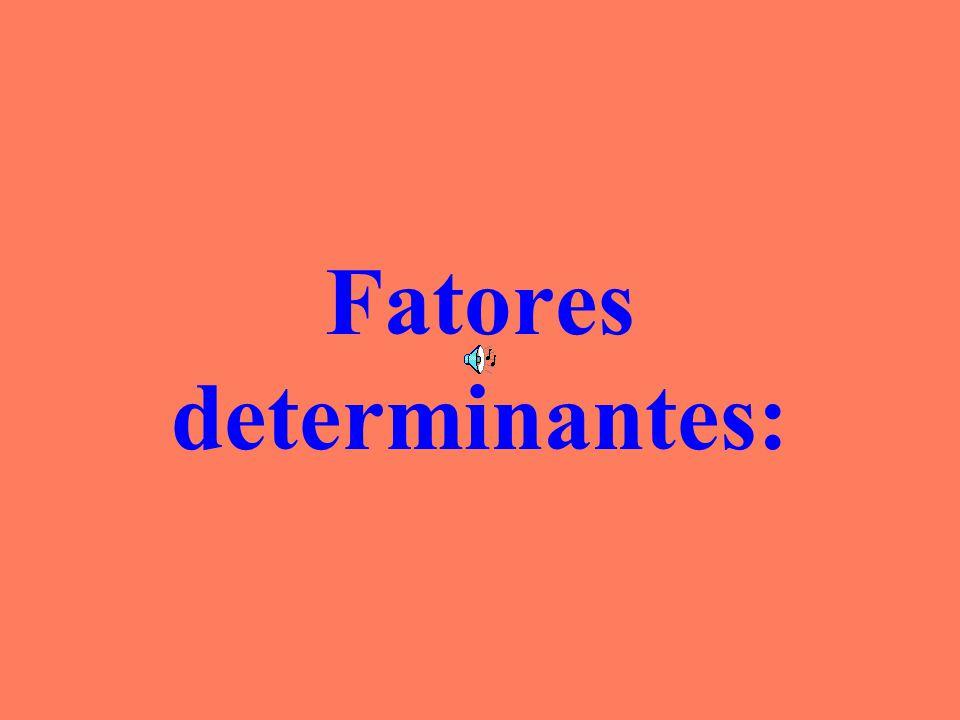 Fatores determinantes:
