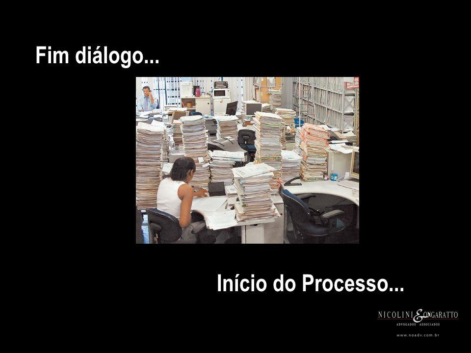 Início do Processo... Fim diálogo...