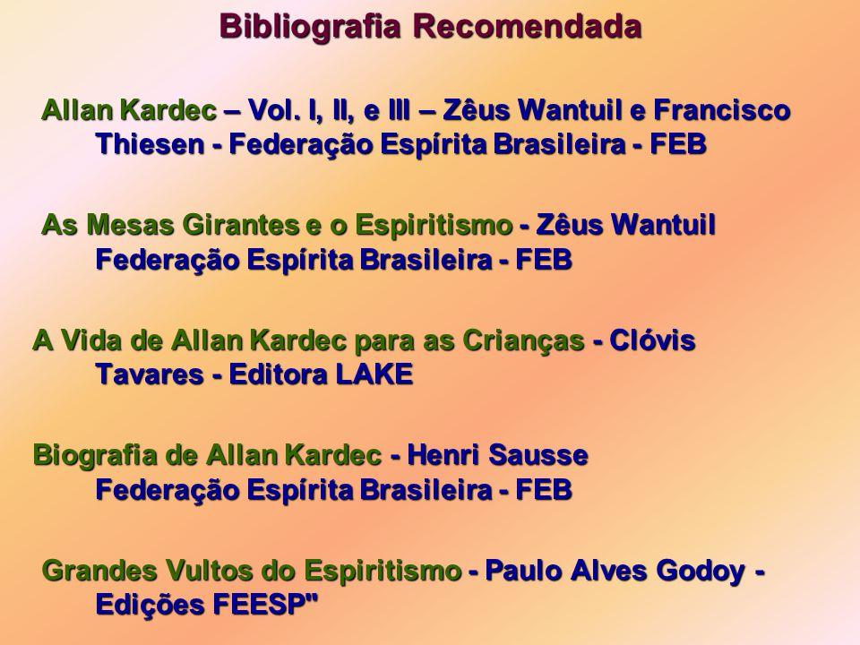 Bibliografia Recomendada Allan Kardec – Vol.