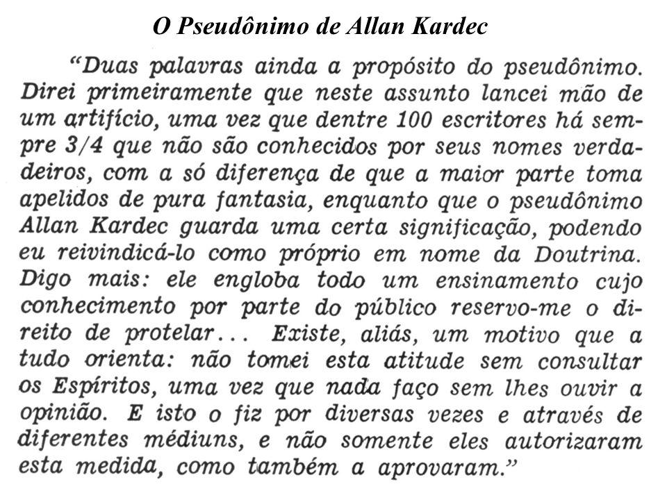 O Pseudônimo de Allan Kardec