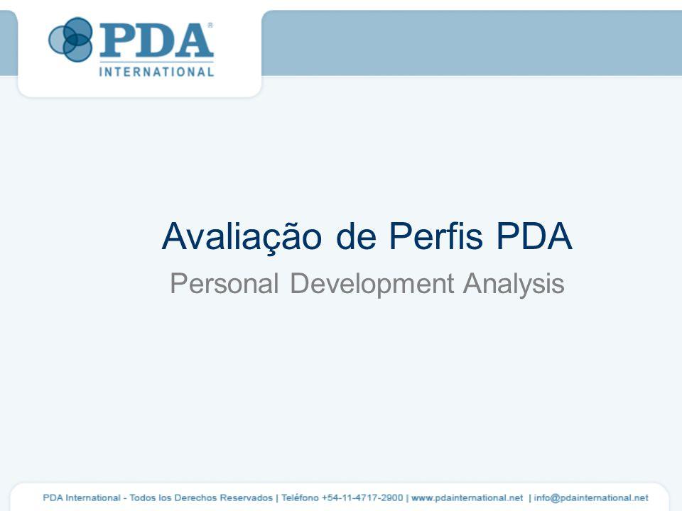 Avaliação de Perfis PDA Personal Development Analysis