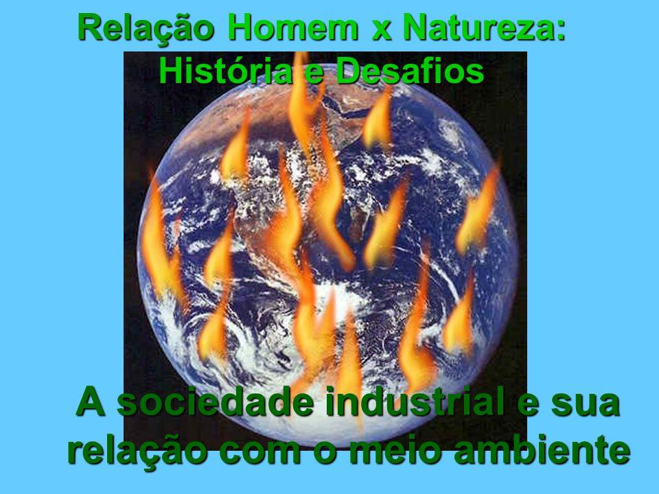 Relação Homem x Natureza: História e Desafios A sociedade industrial e sua relação com o meio ambiente