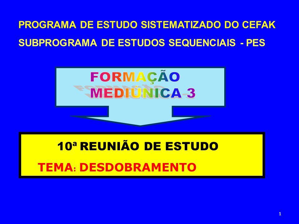 PROGRAMA DE ESTUDO SISTEMATIZADO DO CEFAK SUBPROGRAMA DE ESTUDOS SEQUENCIAIS - PES 10ª REUNIÃO DE ESTUDO TEMA : DESDOBRAMENTO 1